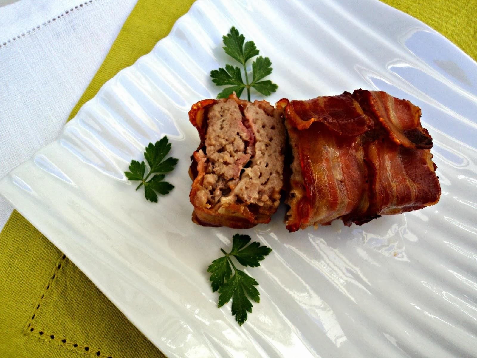 receta casera rollo carne mini bacon