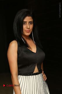Actress Pragya Stills Beautiful Long Dress at RGV Shiva to Vangaveeti Event  0014.JPG