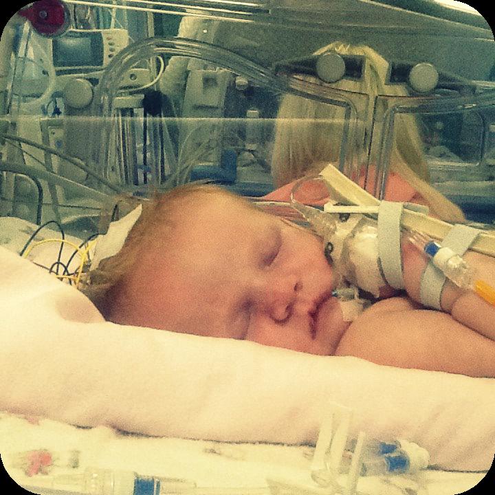 Marianna in incubator
