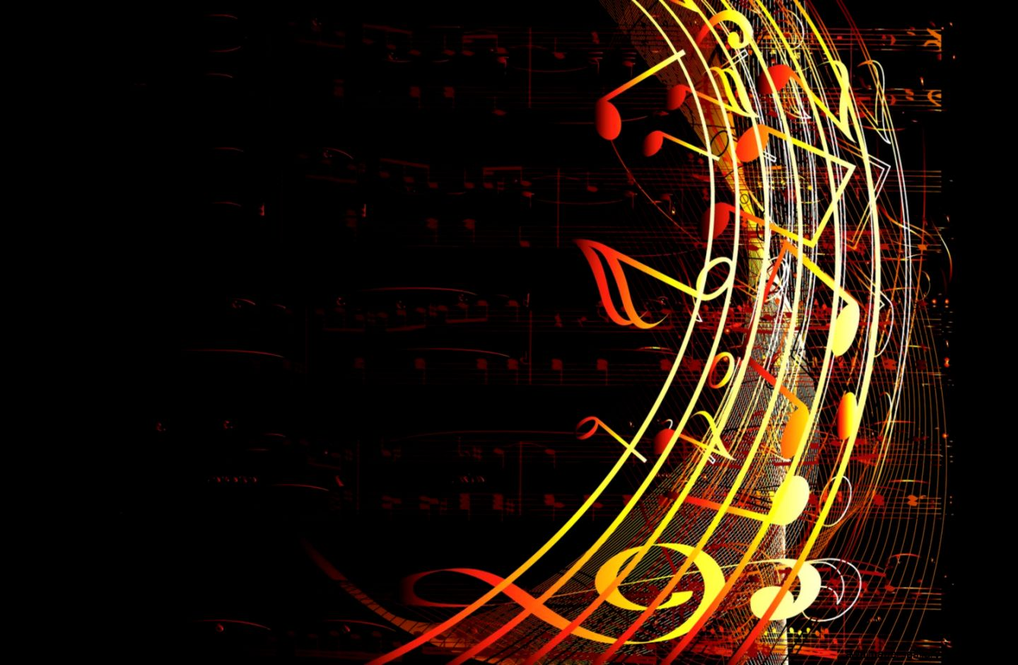 Abstract Art Music Notes Background 1 Hd Wallpapers: Abstract Music Notes Art