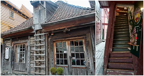 Detalles de Bryggen. Hurtigruten dia 1: Bergen