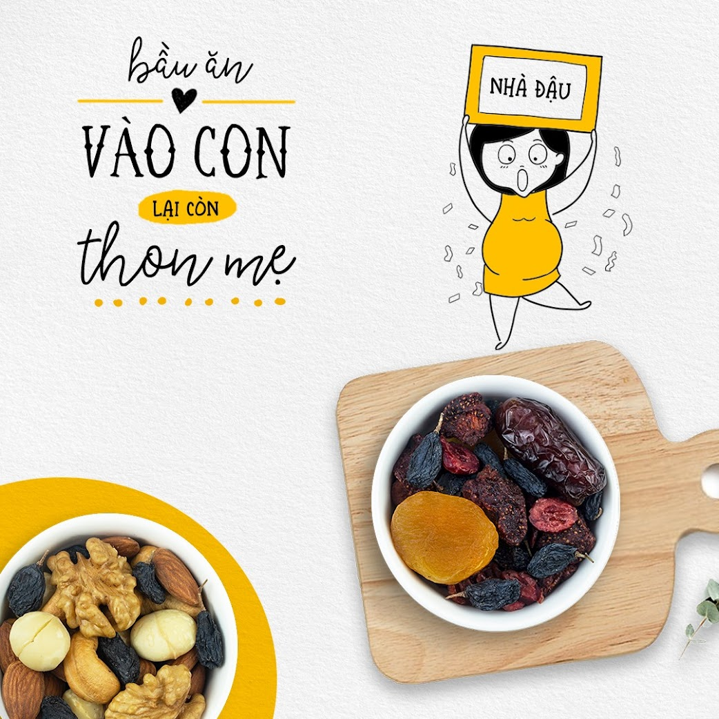 Mixnuts ăn vặt tốt cho Bà Bầu và thai nhi
