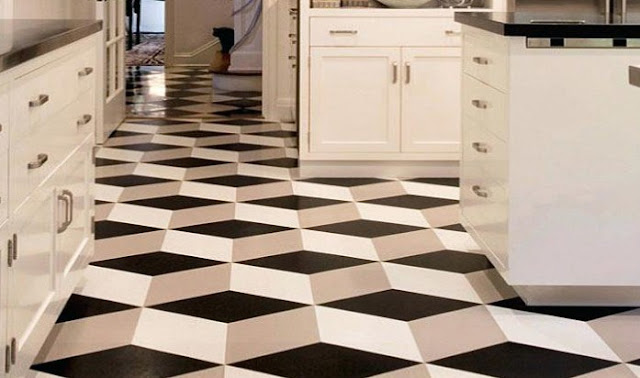 motif keramik lantai dapur - Contoh motif keramik dapur minimalis