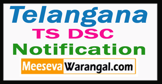 Telangana TS DSC 2017 Notification Online Application