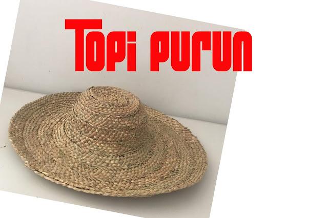 topi purun khas kaliamantan