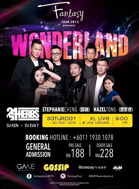 Fantasy Tour 2015, Wonderland Party, KL Live, Life Centre, 23Herbs, Stephanie Cheng, HAzel Tong, DJ Ken, GME Malaysia, Gossip