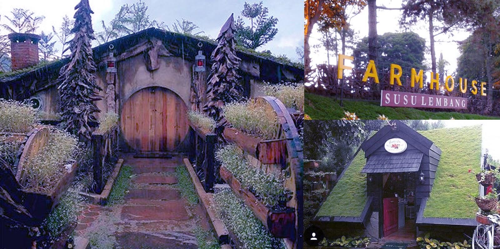 rumah hobbit di farm house cihideung lembang