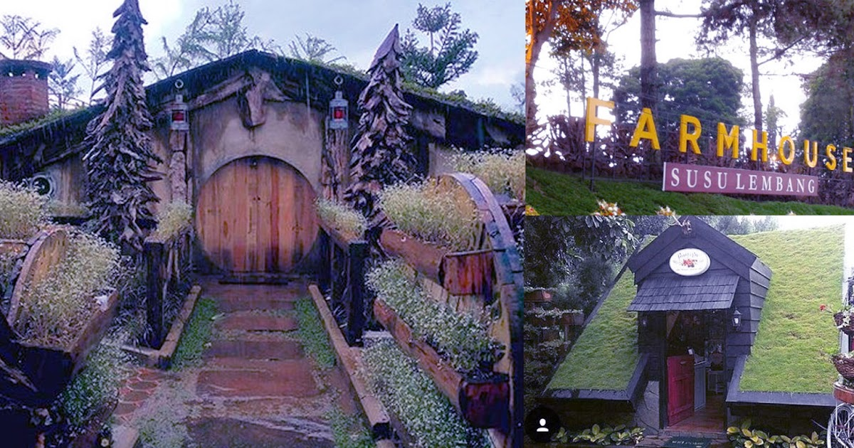 rumah hobbit farmhouse lokasi wisata favorit baru di lembang bandung
