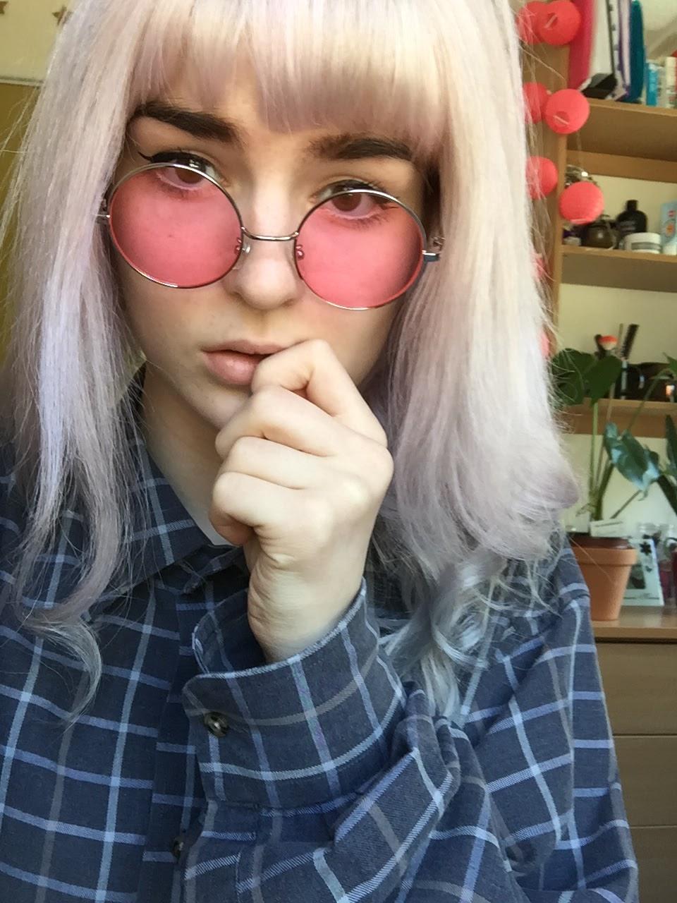 pastel dip dye hair