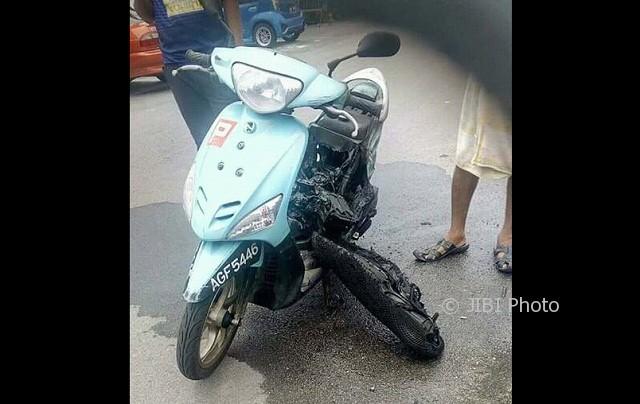 Motor meledak karena handphone