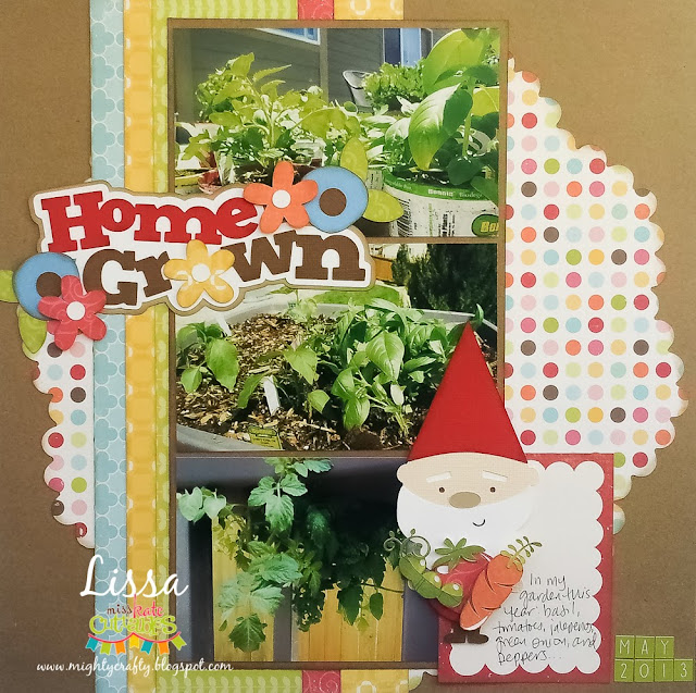 Home Grown layout with Miss Kate Cuttables -- www.MightyCrafty.me