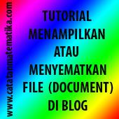 Tutorial Menampilkan atau Menyematkan File (document) di Blog