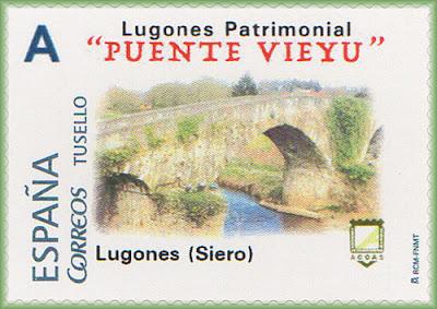 Sello personalizado de Puente Viejo de Lugones
