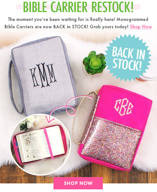 Bible carrier restock from marleylilly.com