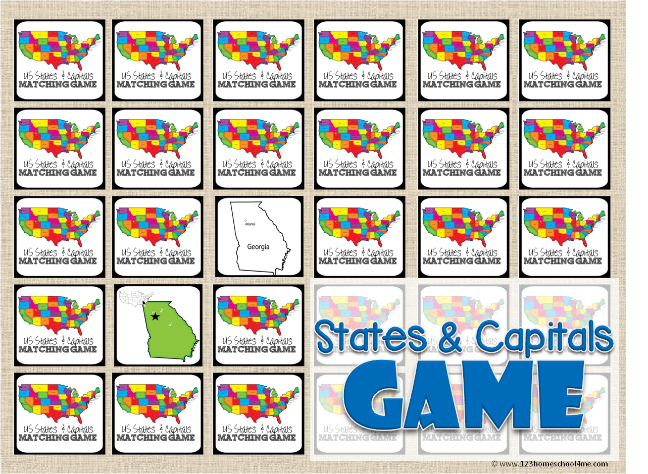 State Capitals Game