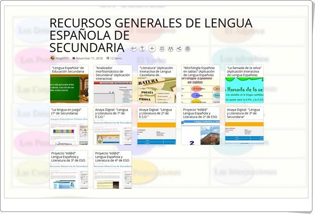 """12 RECURSOS GENERALES DE LENGUA ESPAÑOLA DE SECUNDARIA"""