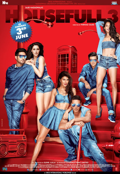 Poster of Housefull 3 (2016) 720p Hindi BRRip Full Movie Download