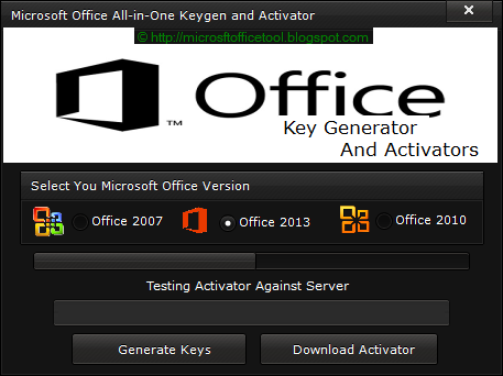 microsoft office 2013 activation key generator