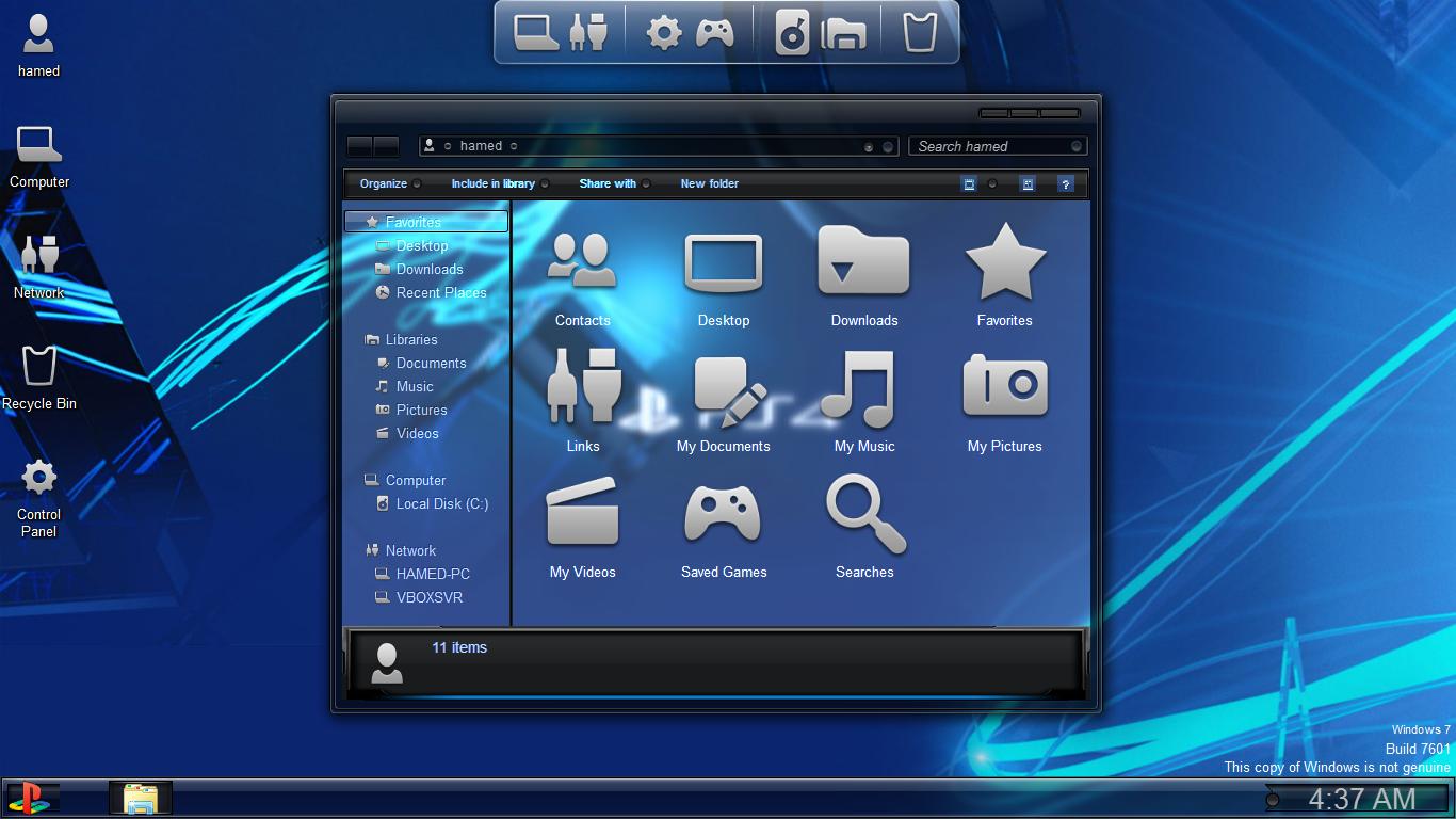 PS4 Skinpack For Windows 7/8/8 1 | Fahad Amjad