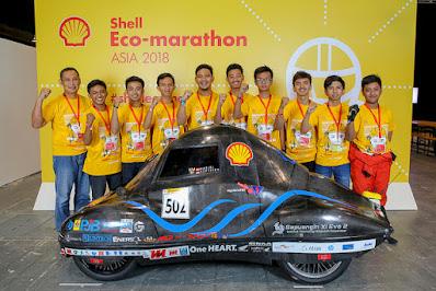 Mahasiswa ITS  juara di Shell Eco Marathon 2018