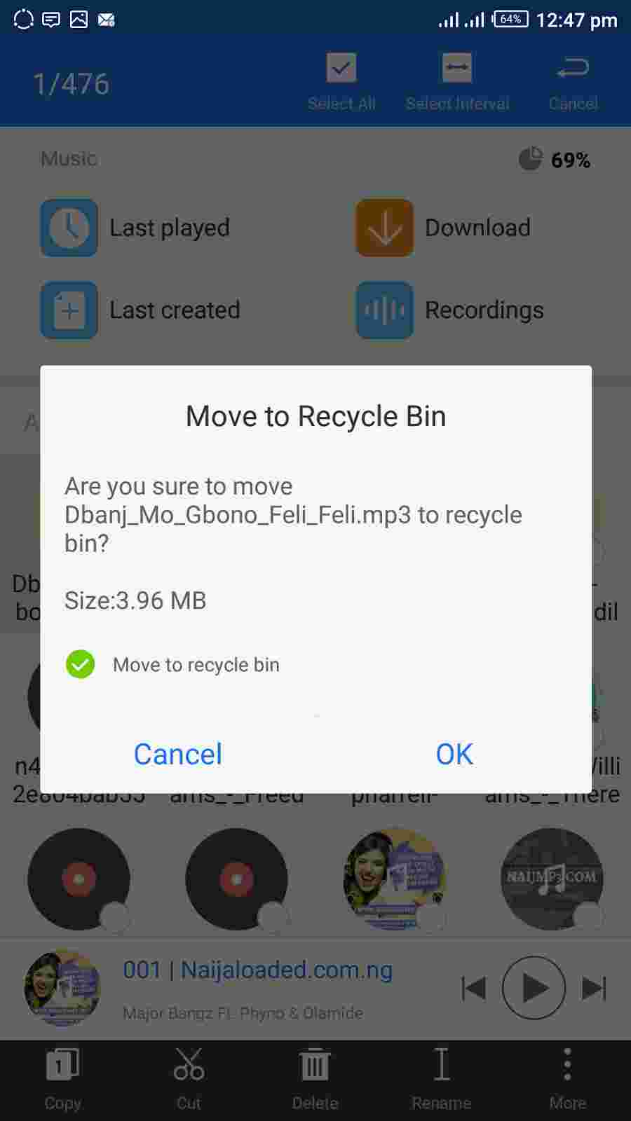 Deleting And Moving Files To ES File Explorer Recycle Bin
