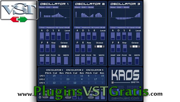 DSK KaoS - Plugin VST Sintetizador Grátis