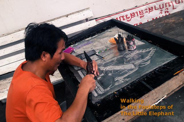 Making art at Wat Phuket in Pua - Nan Thailand