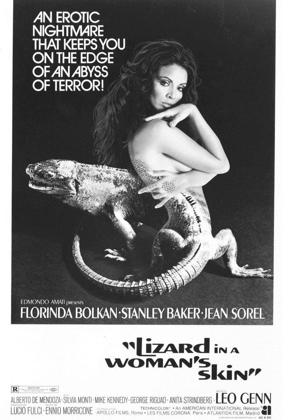 LIZARD IN A WOMANS SKIN Movie POSTER Rare Horror