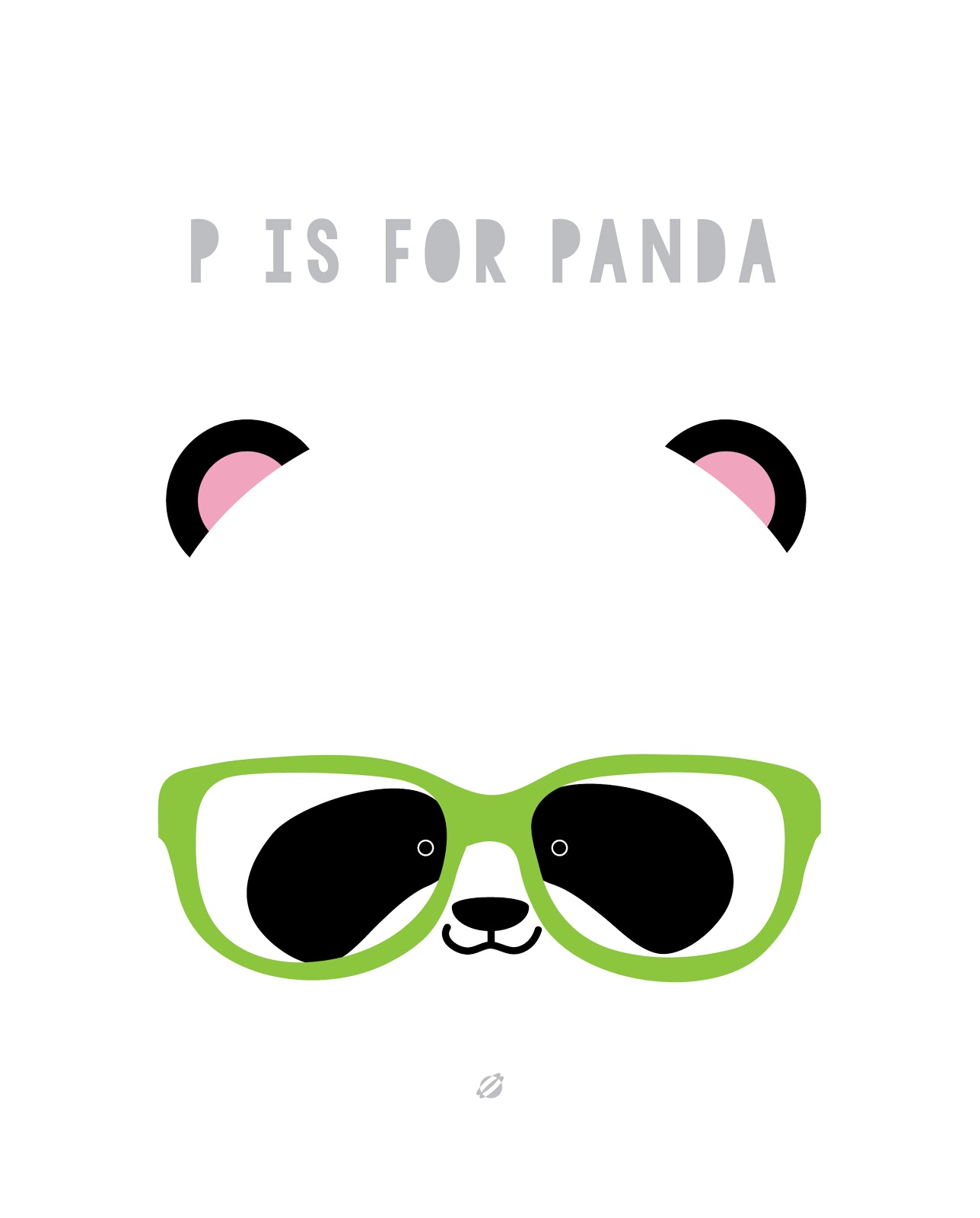 LostBumblebee ©2014 P is for Panda FREE PRINTABLE