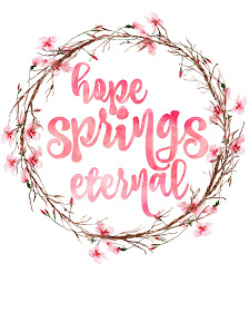 Spring printable with wreath