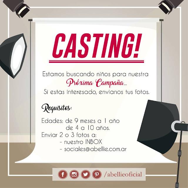 CASTING NIÑOS 2017: Casting niños 2017 Abellie. | Casting niños Argentina.