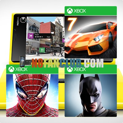 HD Games for Nokia Lumia Windows Phone 8 Smartphones