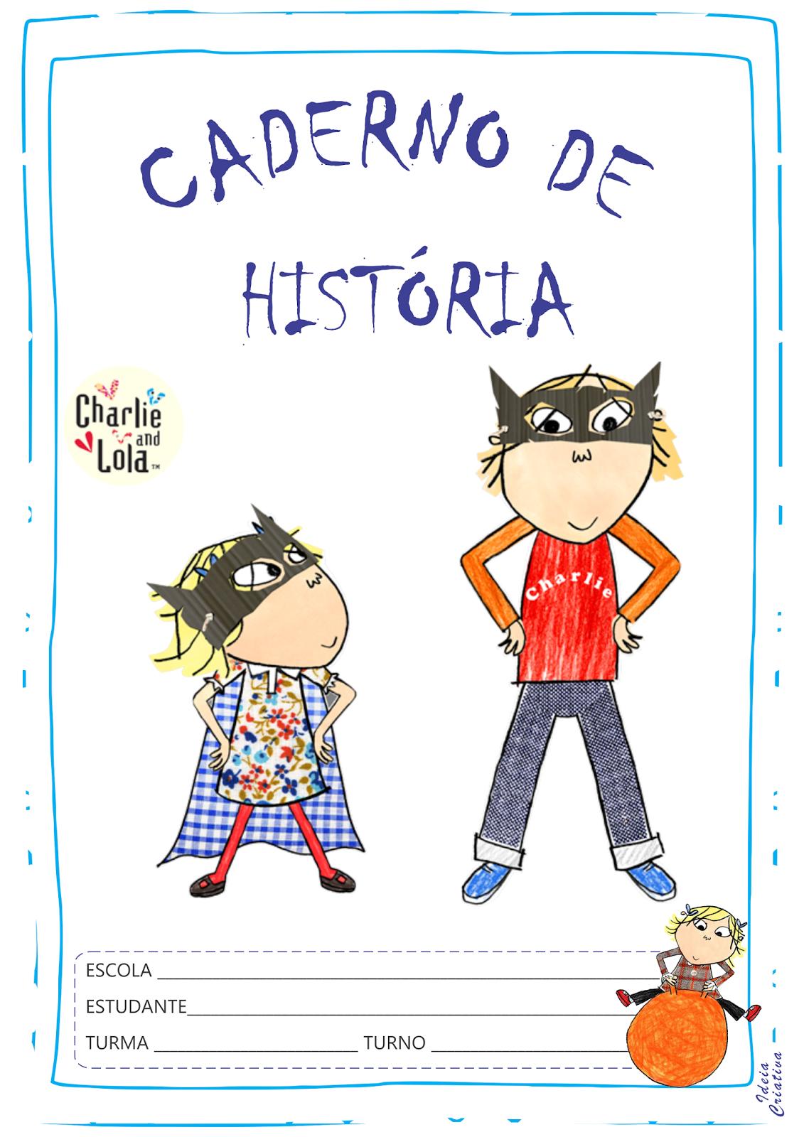 Capas Para Caderno Charlie E Lola Para Imprimir Gratis