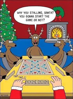 Santa plays Scrabble