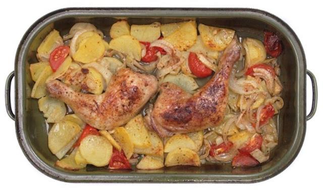 صينية البطاطس بالدجاج