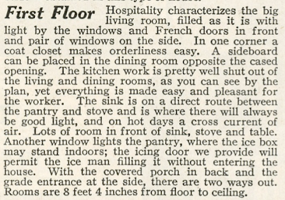 sears Marquette first floor description 1920 catalog