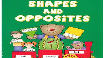 كتاب تعليم الأشكال fun to learn shapes and opposites للأطفال