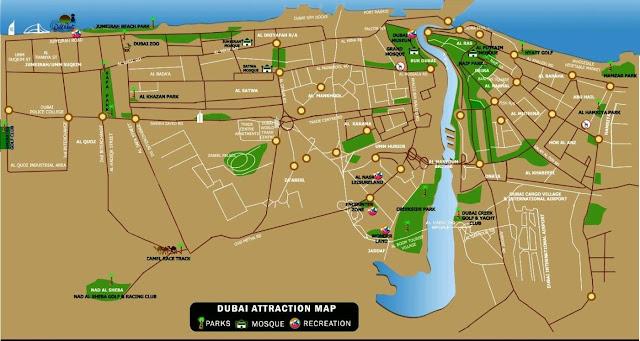 Dubai atraction map