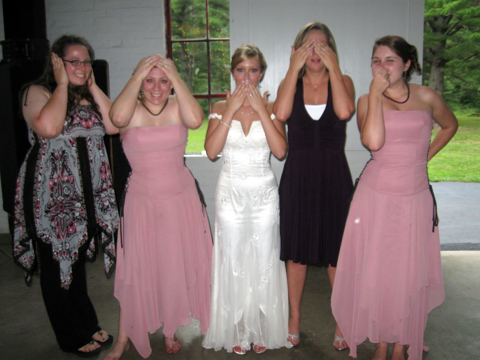How to pick a dress your bridesmaids will actually wear again bridesmaids david bridal dress see no evil speak no evil hear no evil smell no evil ombrellifo Gallery