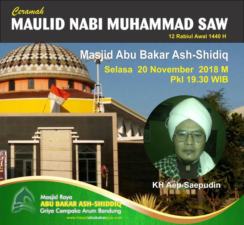 DKM Abu Bakar GCA Gelar Ceramah Maulid Nabi Muhammad Saw