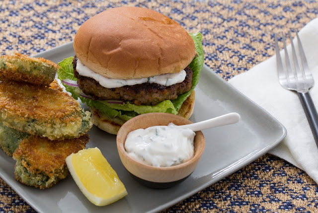 healthy fast food options, tofu burger with tahini, guilt free bbq chicken