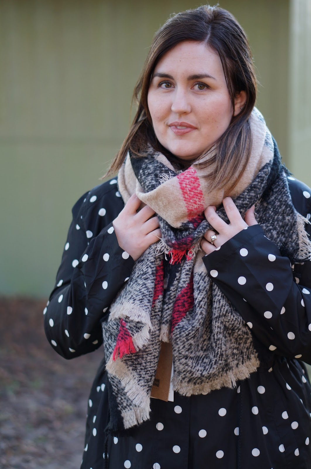 Rebecca Lately Look by M Della Tartan Plaid Scarf