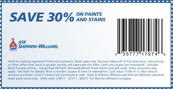 Shop by type of product or industry served at Sherwin-Williams. Check out the special offers section at Sherwin-Williams to receive bonus discounts and extra coupons. From repair products that promise to extend the life of your car or boat to home and industrial-grade wall paints, Sherwin-Williams .