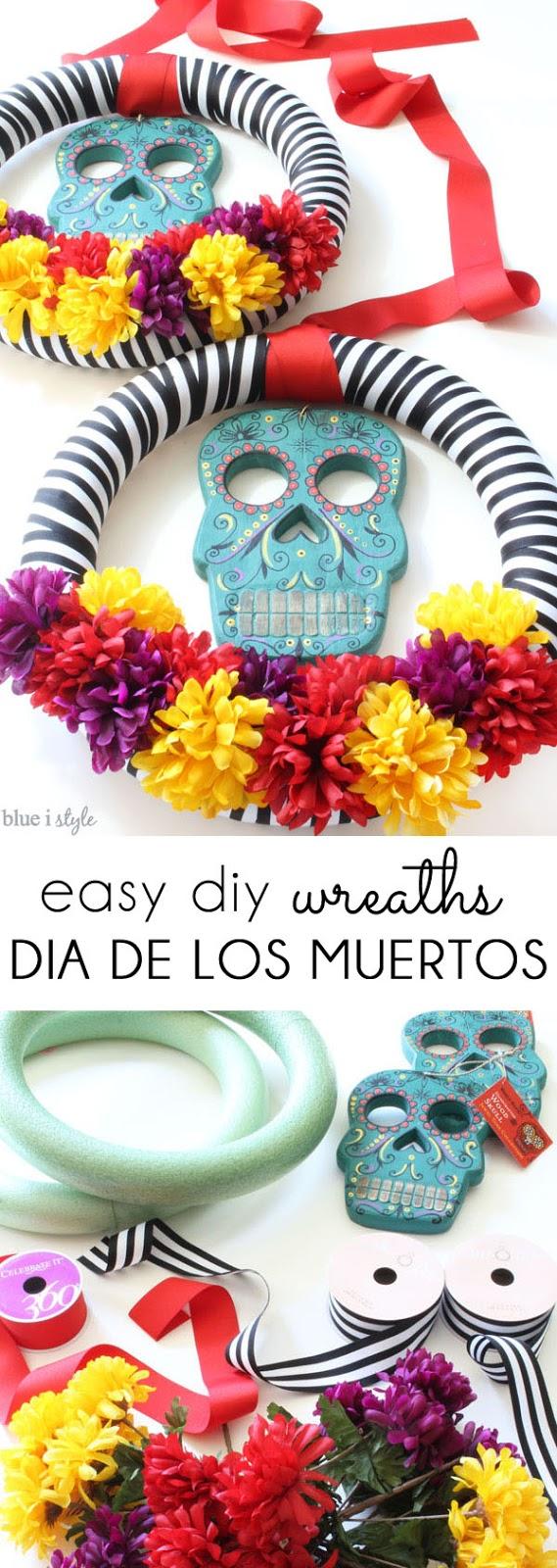Dia de los Muertos wreath craft