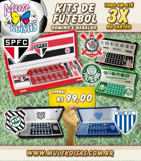 O Kit compoe domino personalizado e baralho Corinthians 016f200214a7a
