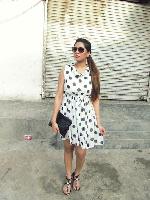 0d81ed8b34e Polka Dot Dress Relaxed Summer Outfit