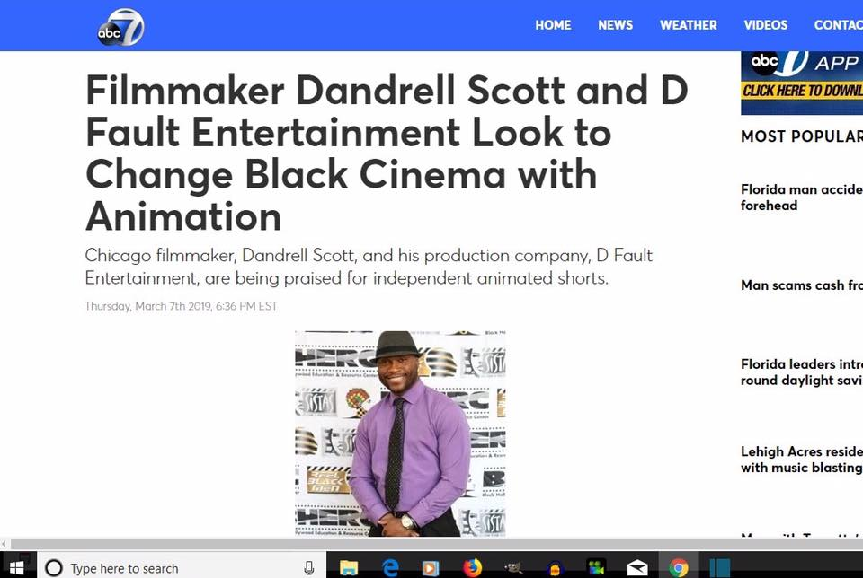 PRESS: Dandrell Scott Featured on ABC, FOX, CBS for Bizarre Man Nomination
