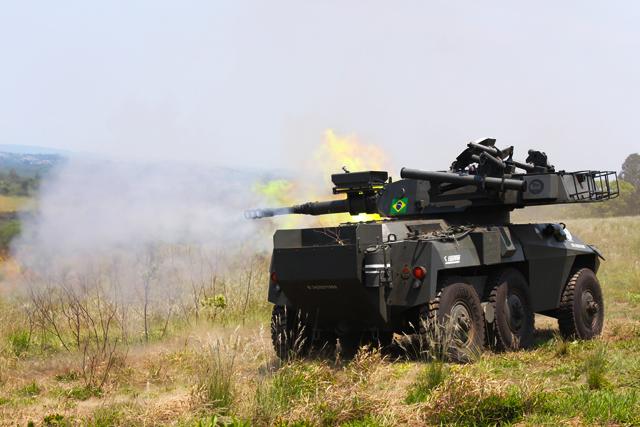 Arsenal de Guerra de São Paulo realizou Tiro Técnico com veículo Cascavel MX8