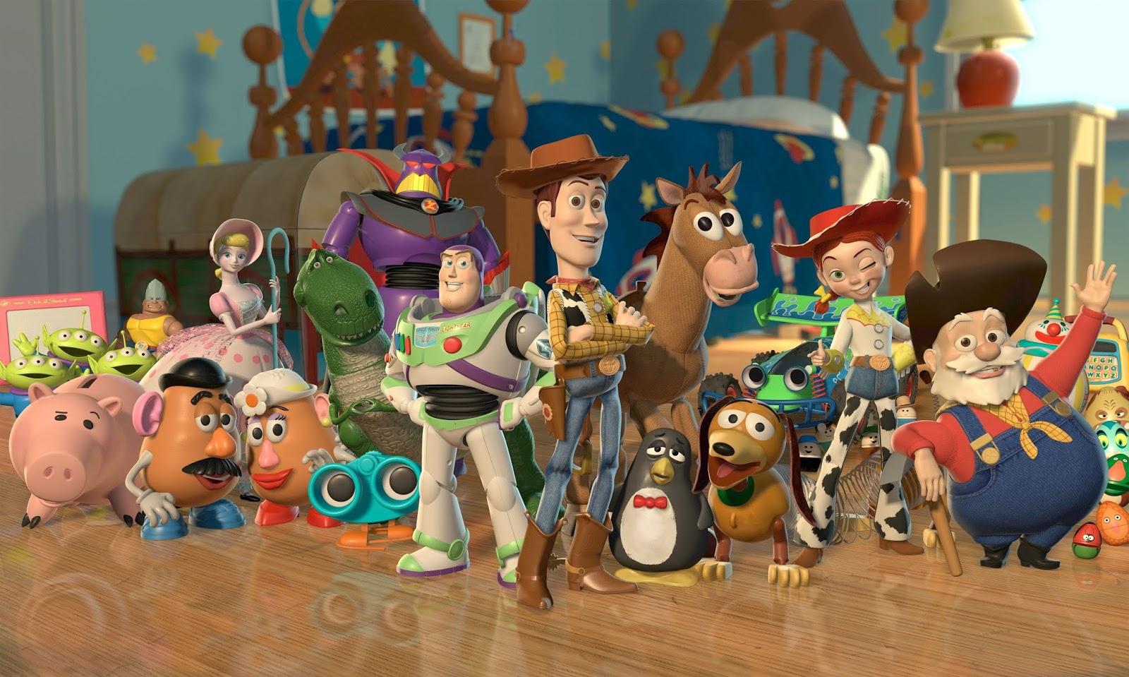 Toy Story (HD 720P y español Latino 1995) poster box code