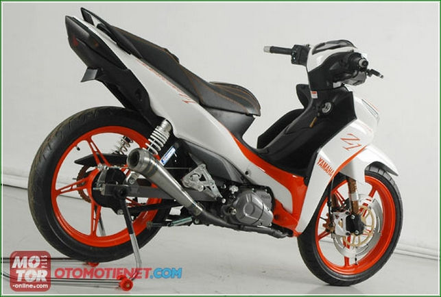 Modif Ban dan Suspensi All New Jupiter Z1 - Panduan Cara Modifikasi Yamaha All New Jupiter z1 Injeksi Racing Sporty Ala Balapan